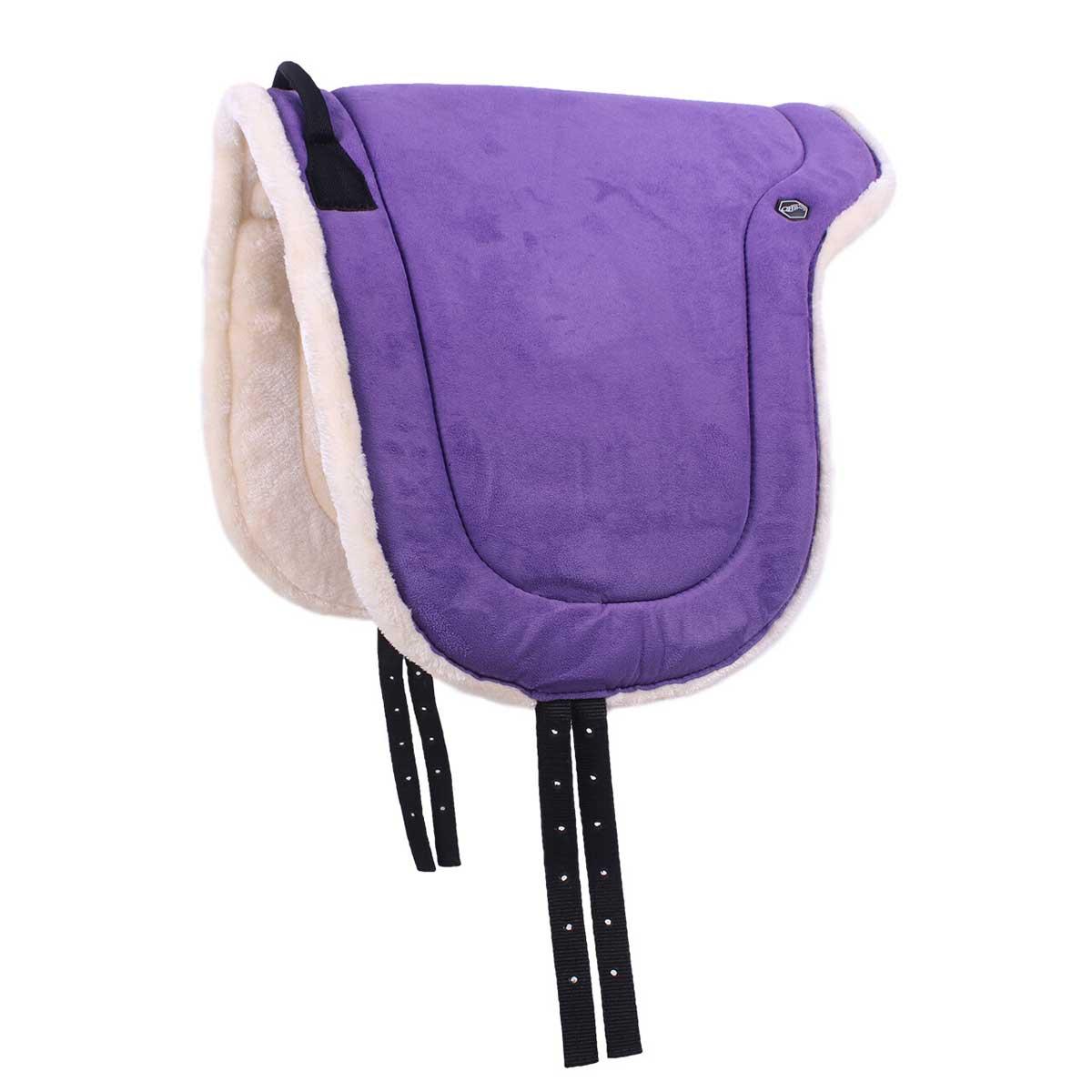 QHP Bareback pad paars maat:pony