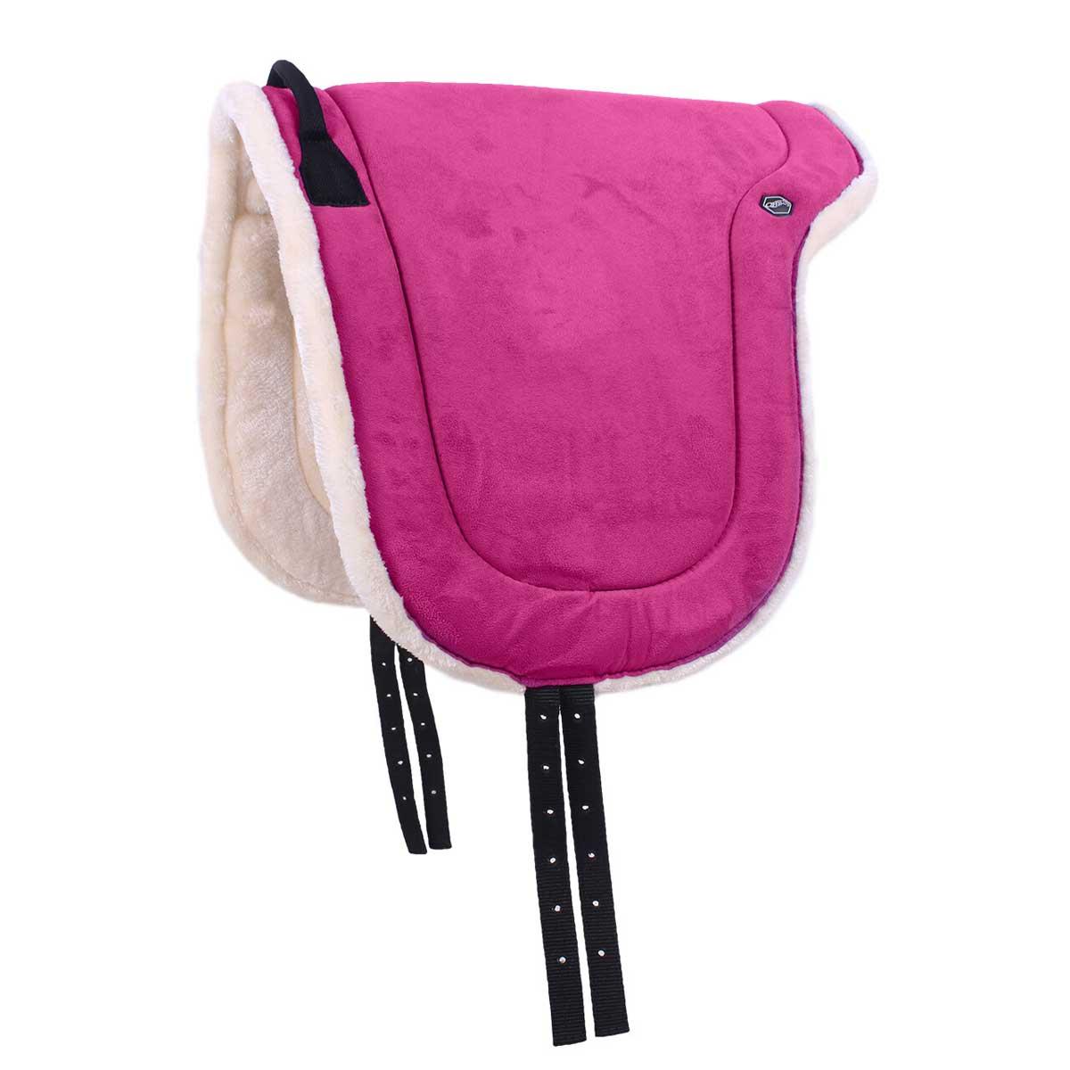 QHP Bareback pad fuchsia maat:pony