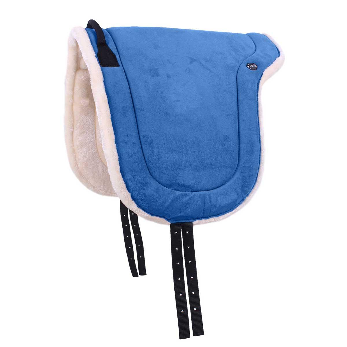 QHP Bareback pad kobalt maat:shetl