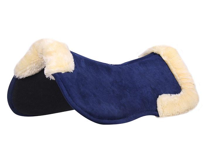 QHP Ontario Memory foam pad donkerblauw maat:pony