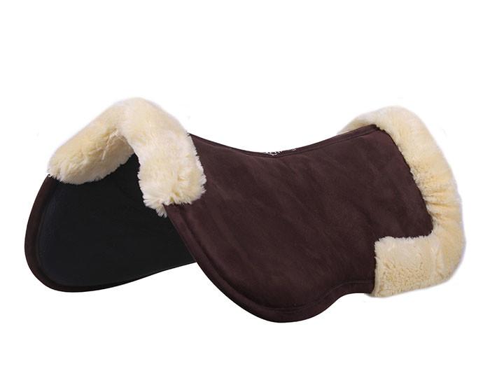 QHP Ontario Memory foam pad donkerbruin maat:pony