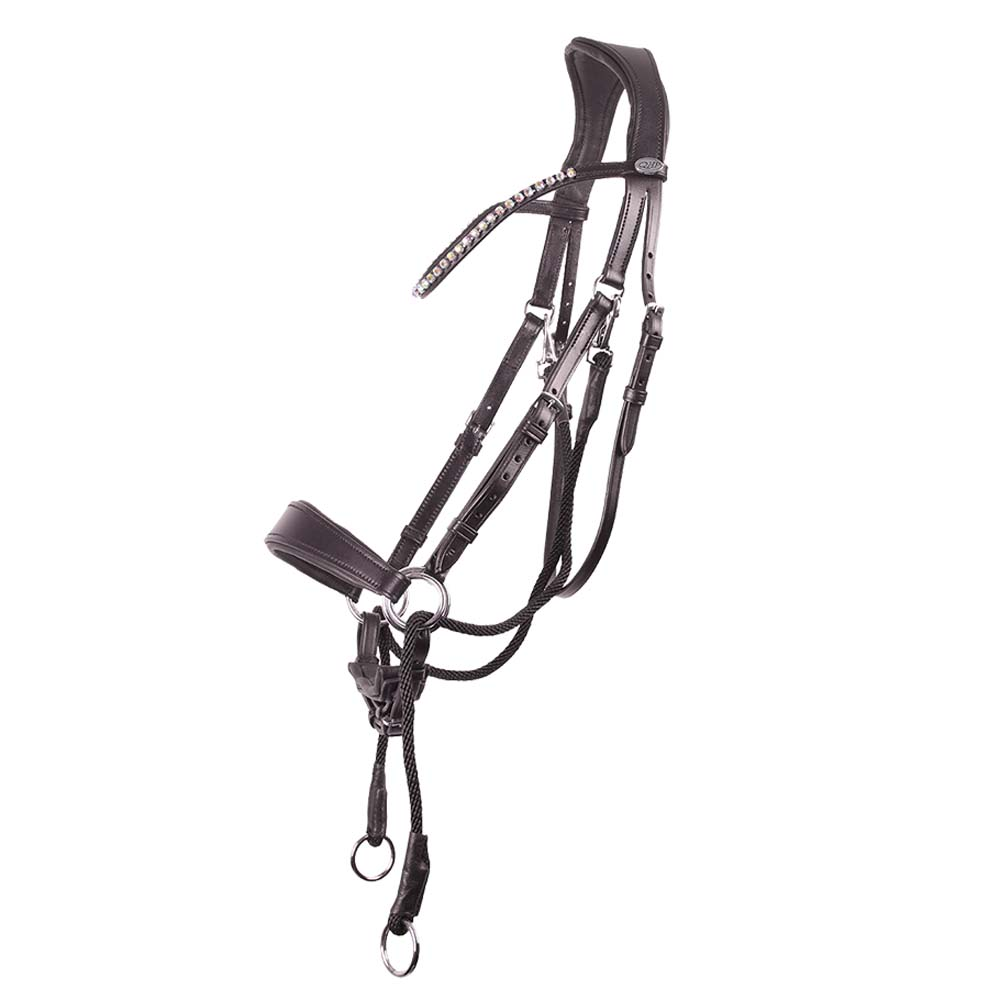 QHP Sunna Bitloos Hoofdstel bruin maat:pony