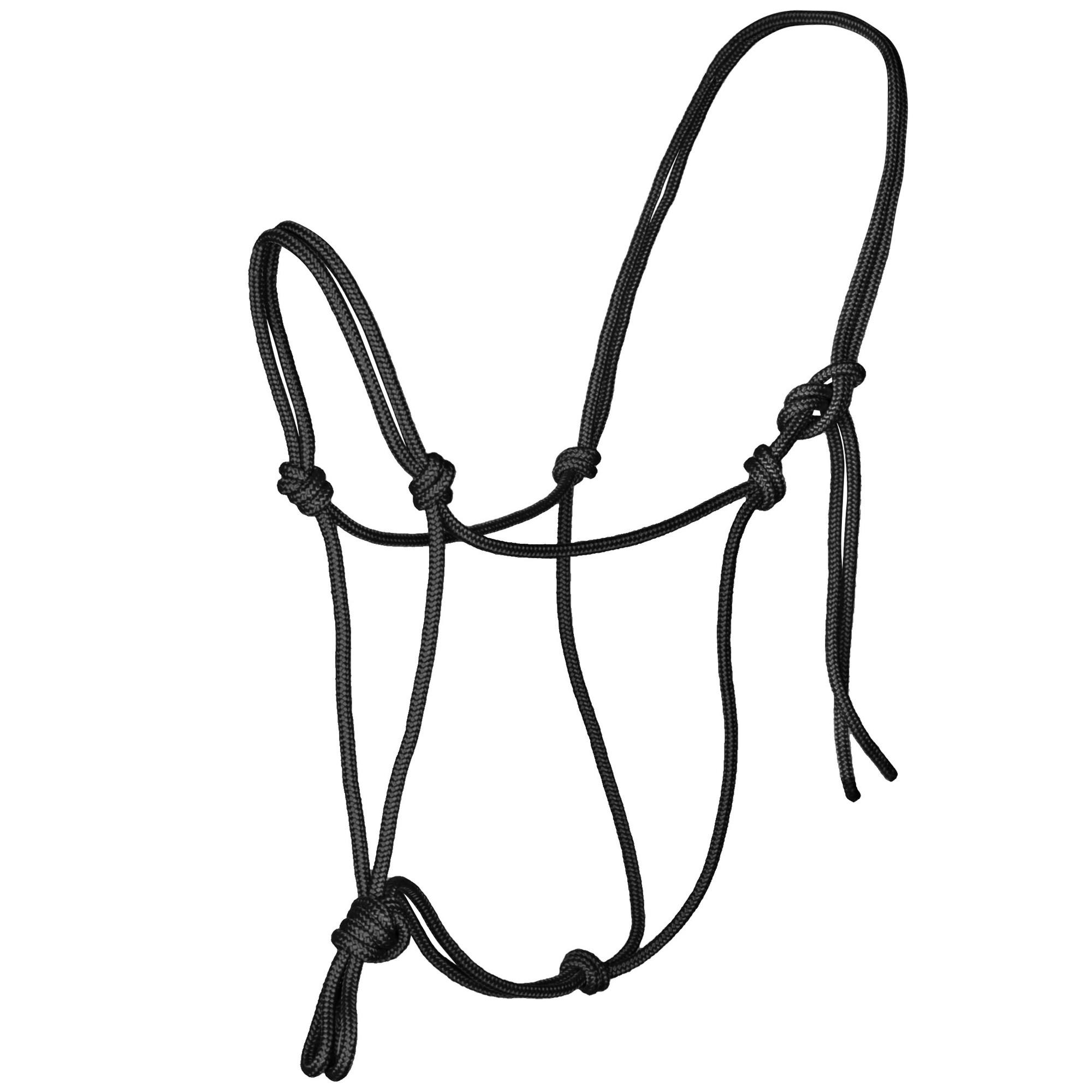 Horse Charms touwhalster zwart maat:cob