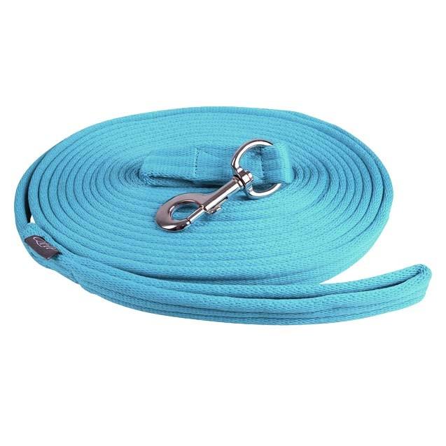 QHP Longeerlijn in tas lichtblauw maat:8