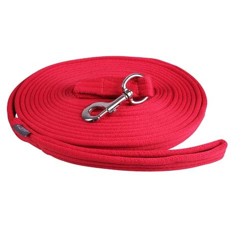 QHP Longeerlijn in tas rood maat:8