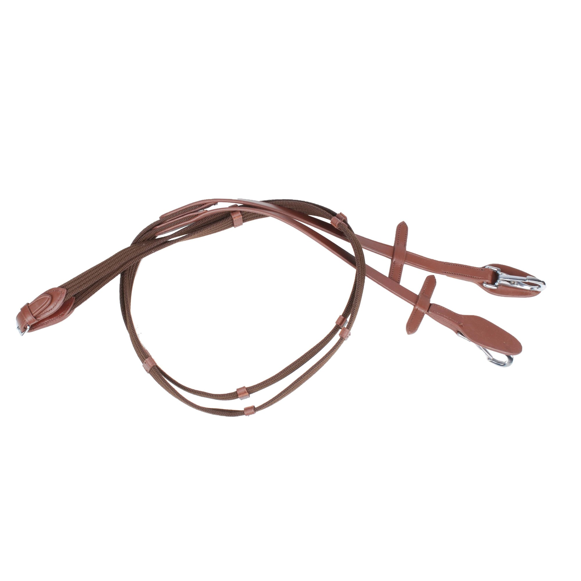 QHP Webteugel met clip bruin maat:pony