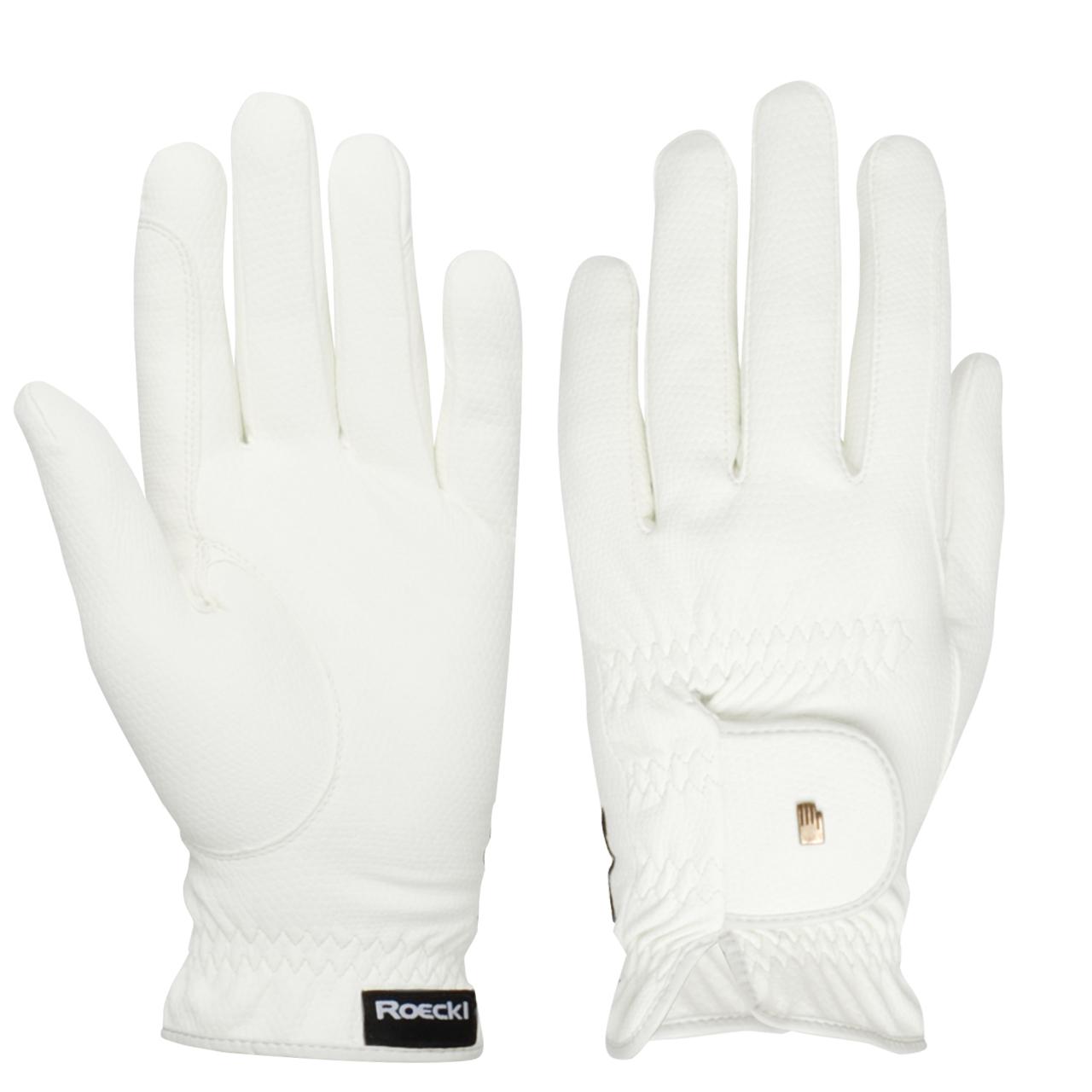Roeckl Roeck grip Handschoen wit maat:6,5 ms