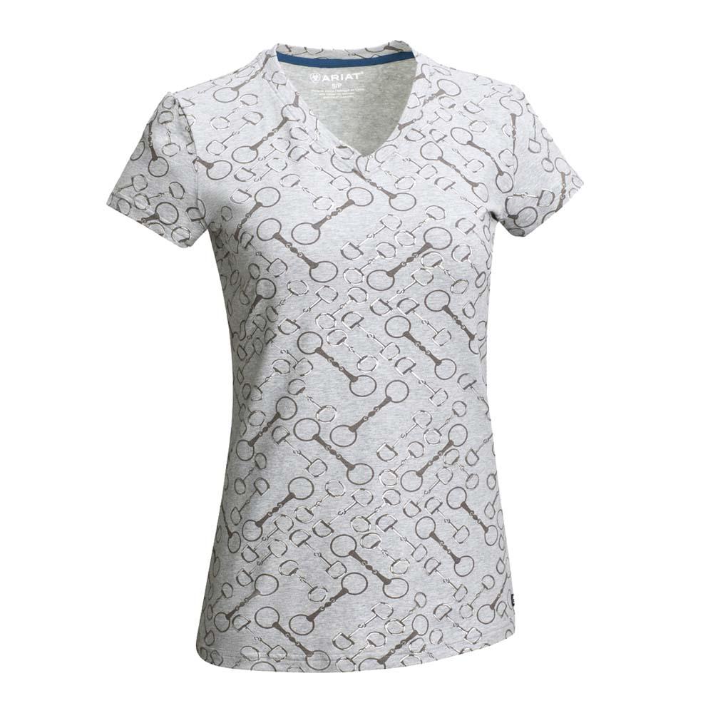 Ariat Snaffle T-Shirt vj21 grijs maat:s