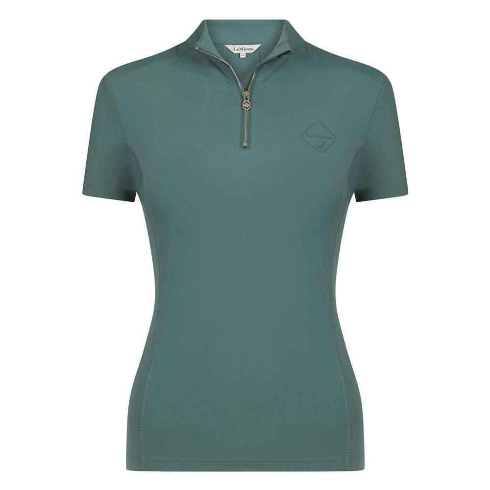 Le Mieux Base Layer short sleeve Techshirt groen maat:40
