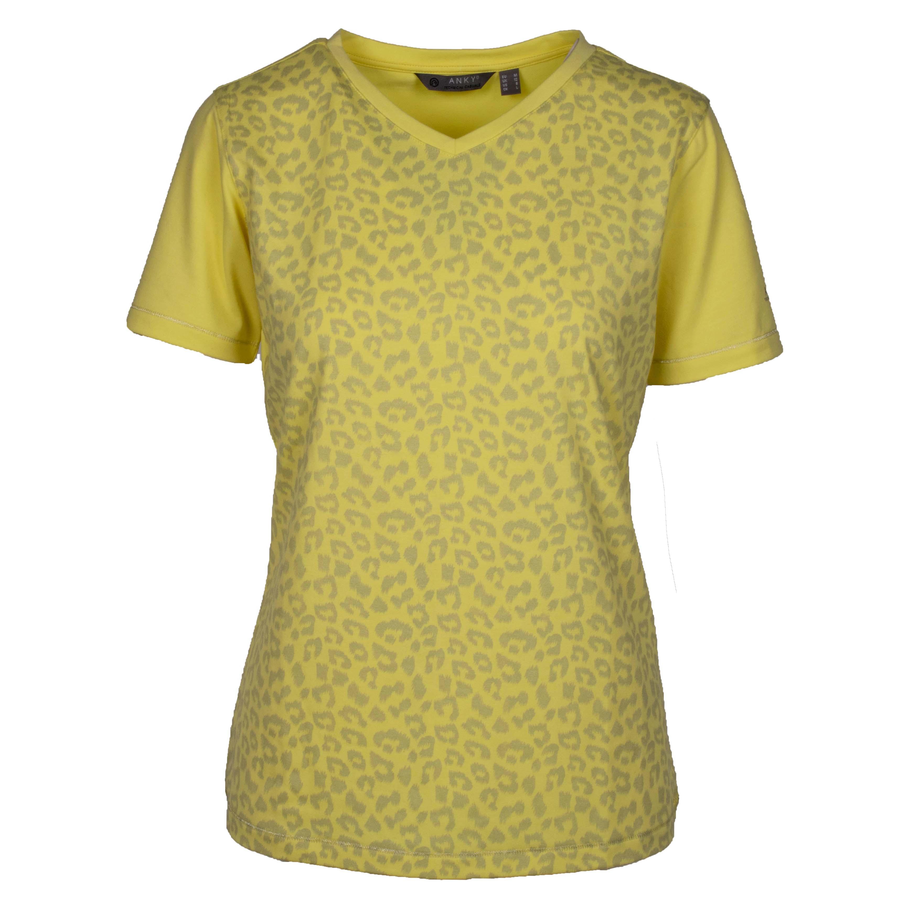 ANKY T-Shirt Printed ATC211301 geel maat:xs