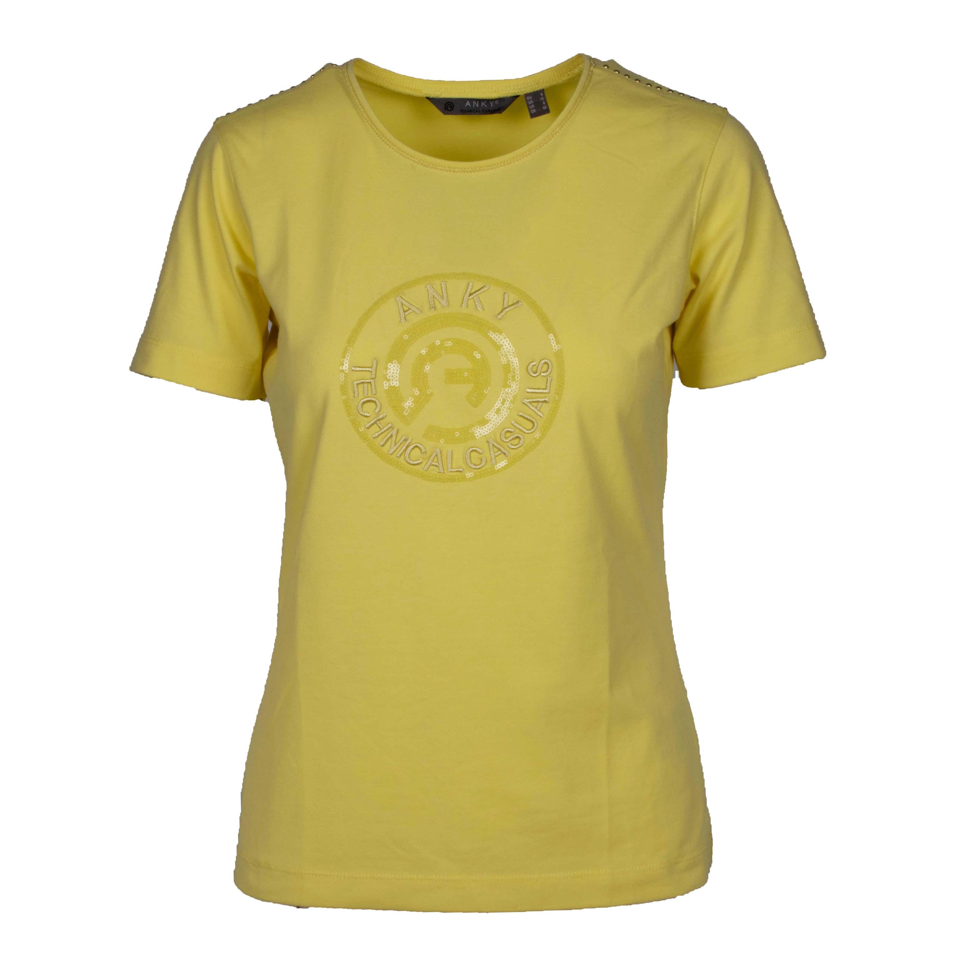 ANKY T-Shirt Logo ATC211302 geel maat:l