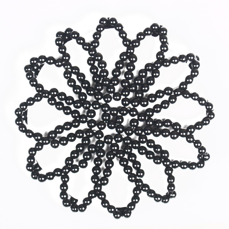 Mondoni knotnetje parels zwart