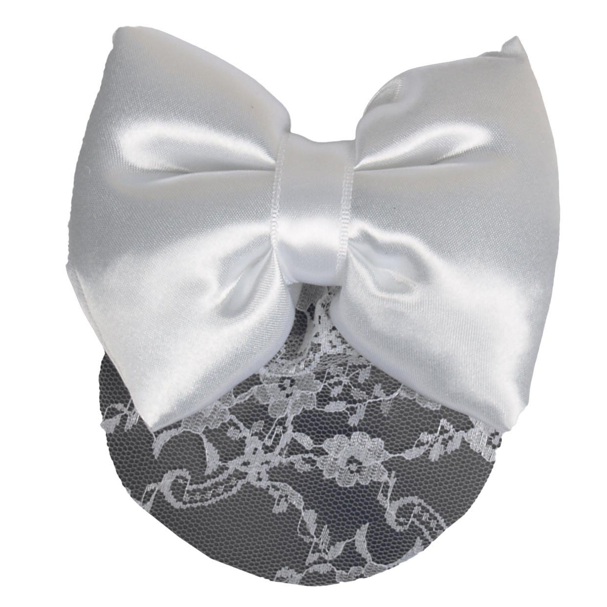 Nilette Knotnetje kant met strik wit