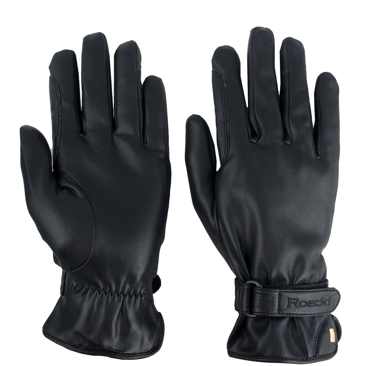 Roeckl Wago winter zwart maat:6,5