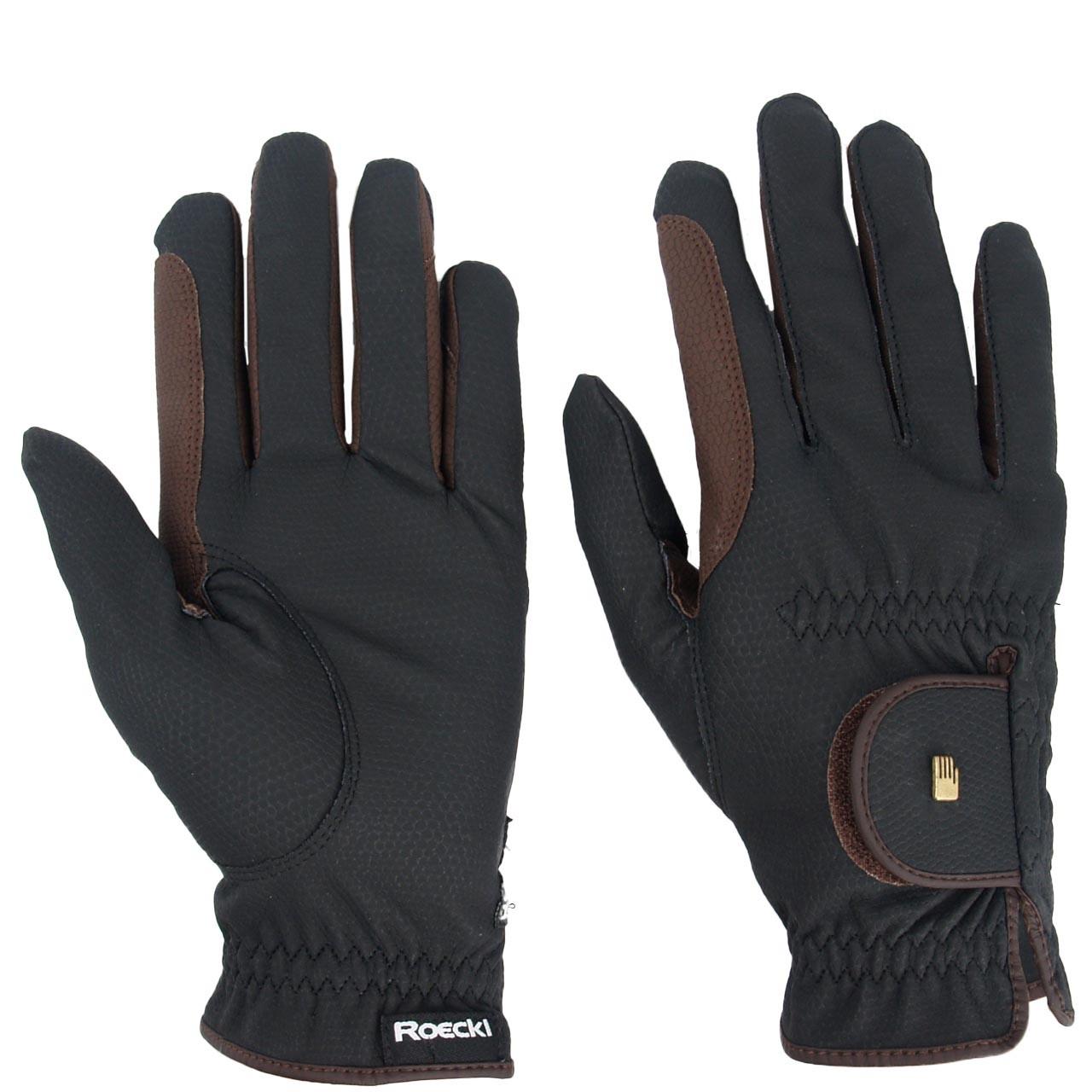 Roeckl Malta grip handschoen zwart/bruin maat:8