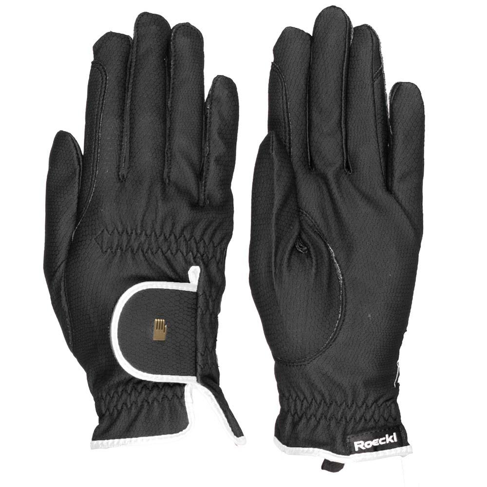 Roeckl Lona handschoenen zwart/wit maat:6,5
