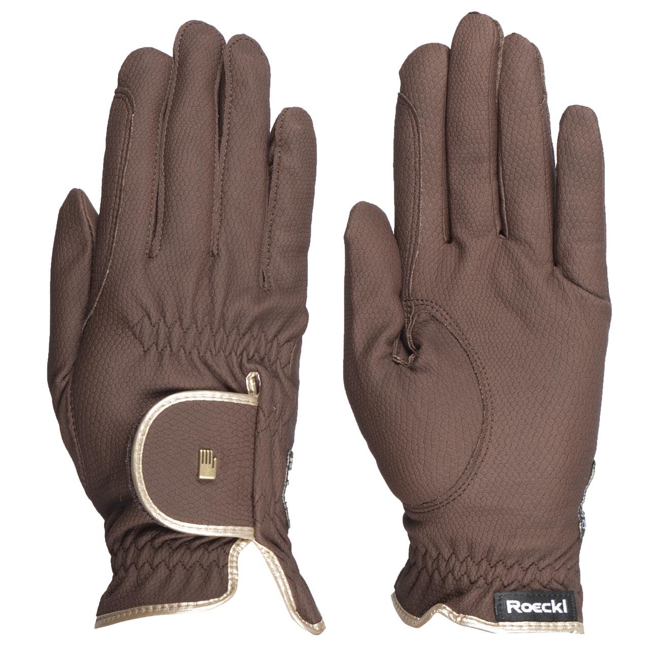 Roeckl Lona handschoenen donkerbruin maat:8