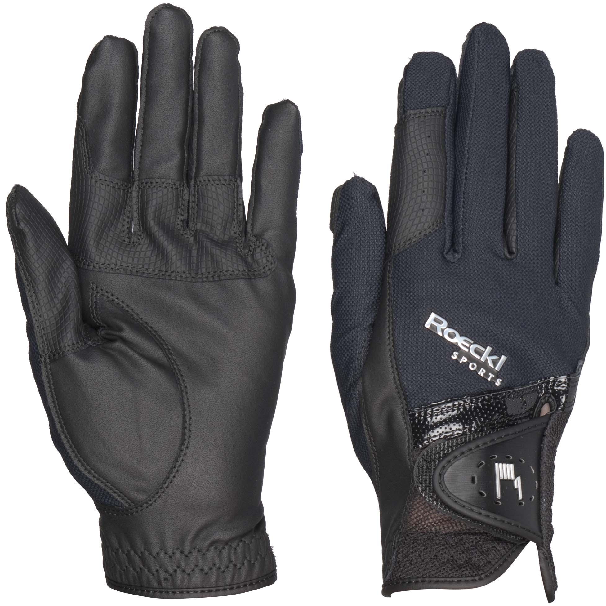Roeckl Madrid handschoenen zwart/zwart maat:7