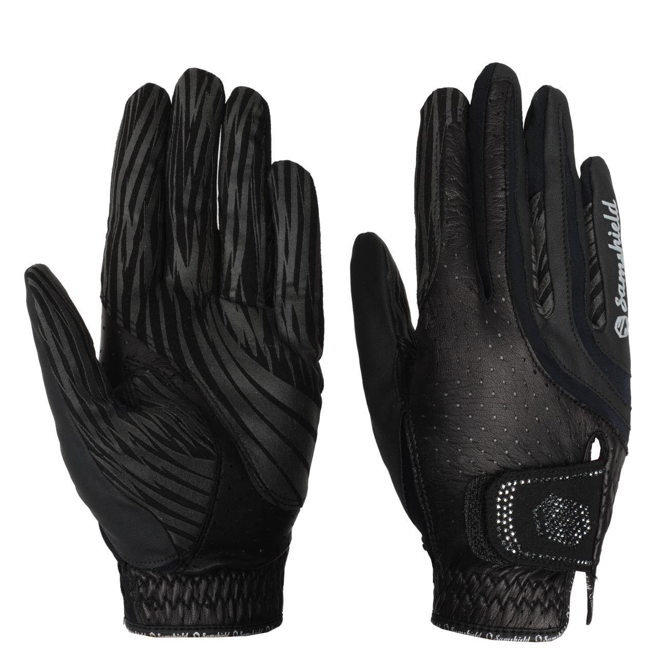 Samshield handschoenen Swarovski zwart maat:7,5