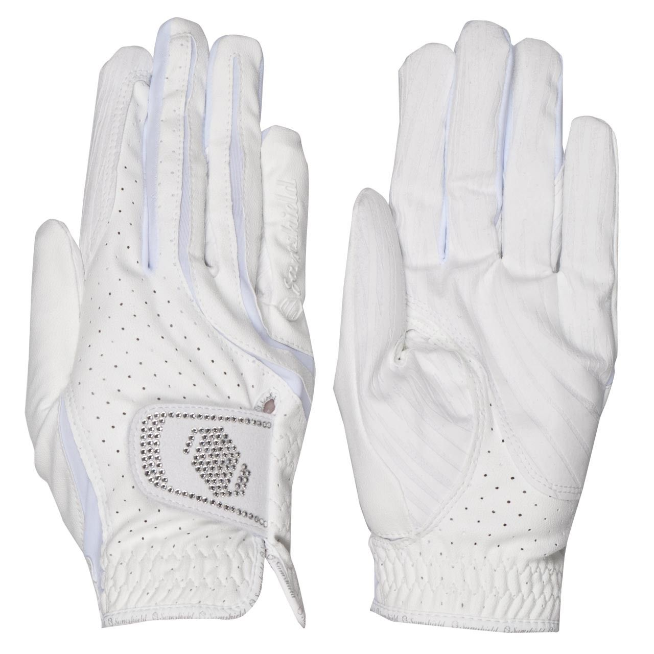 Samshield handschoenen Swarovski wit maat:7