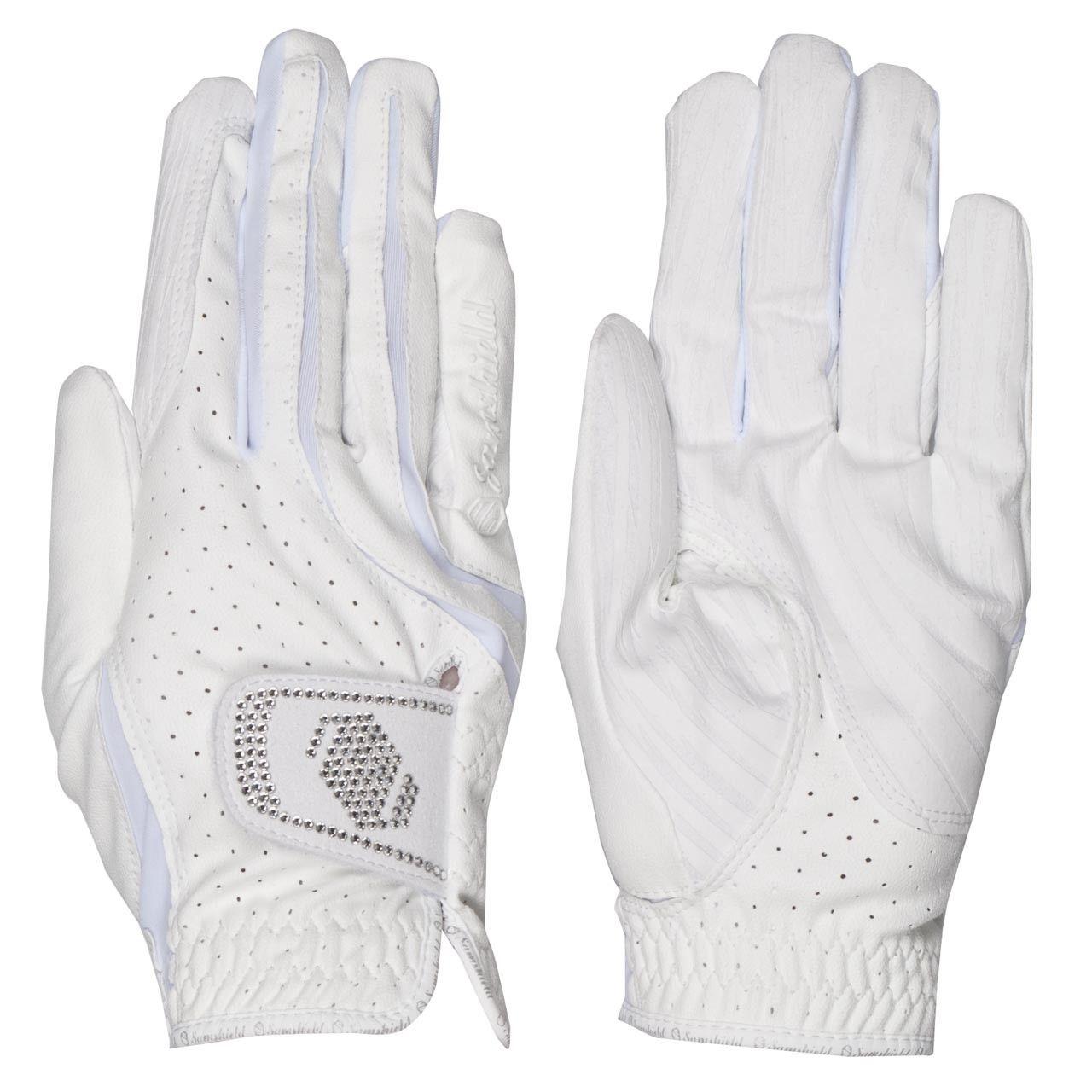Samshield handschoenen Swarovski wit maat:8