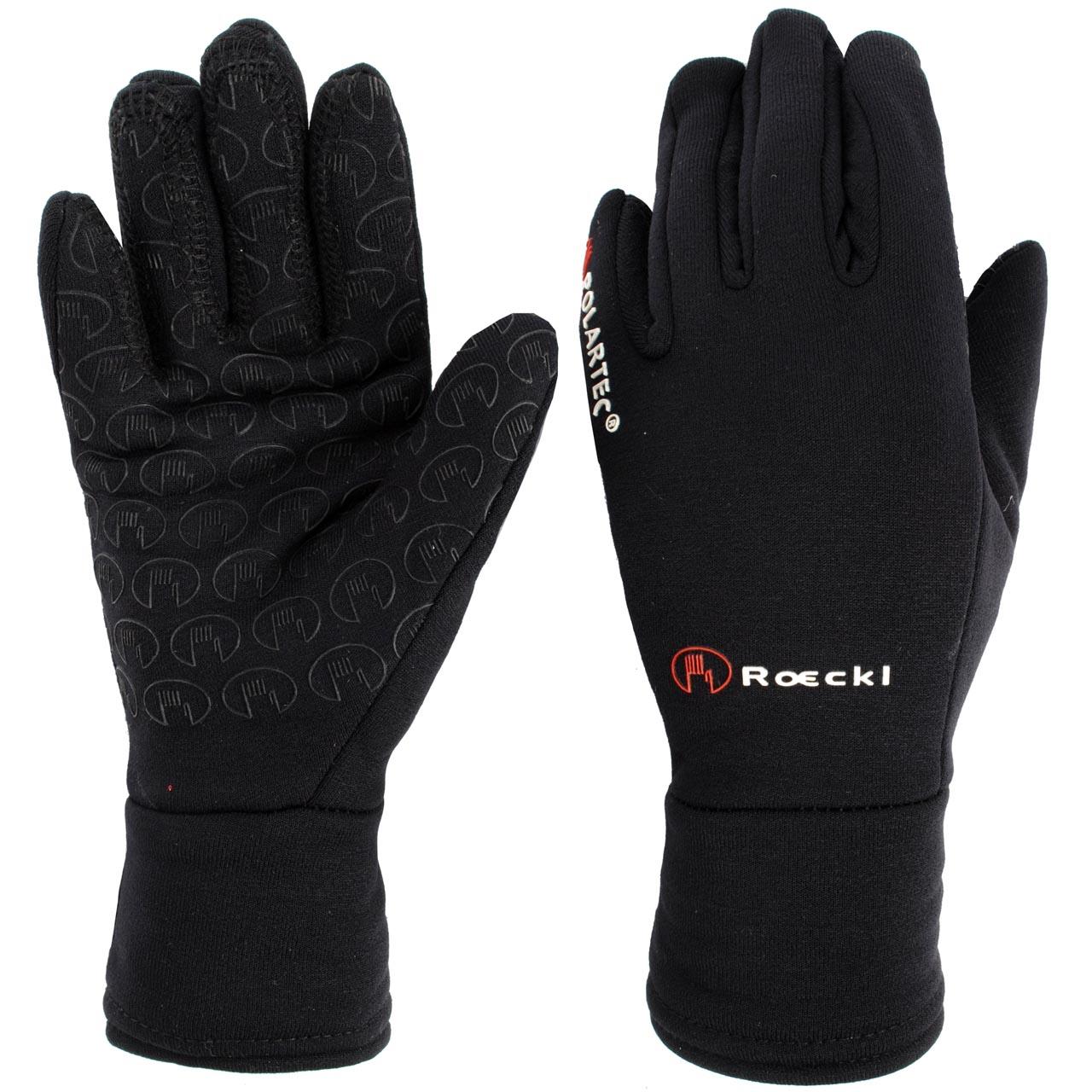 Roeckl Warwick jr handschoenen zwart maat:5