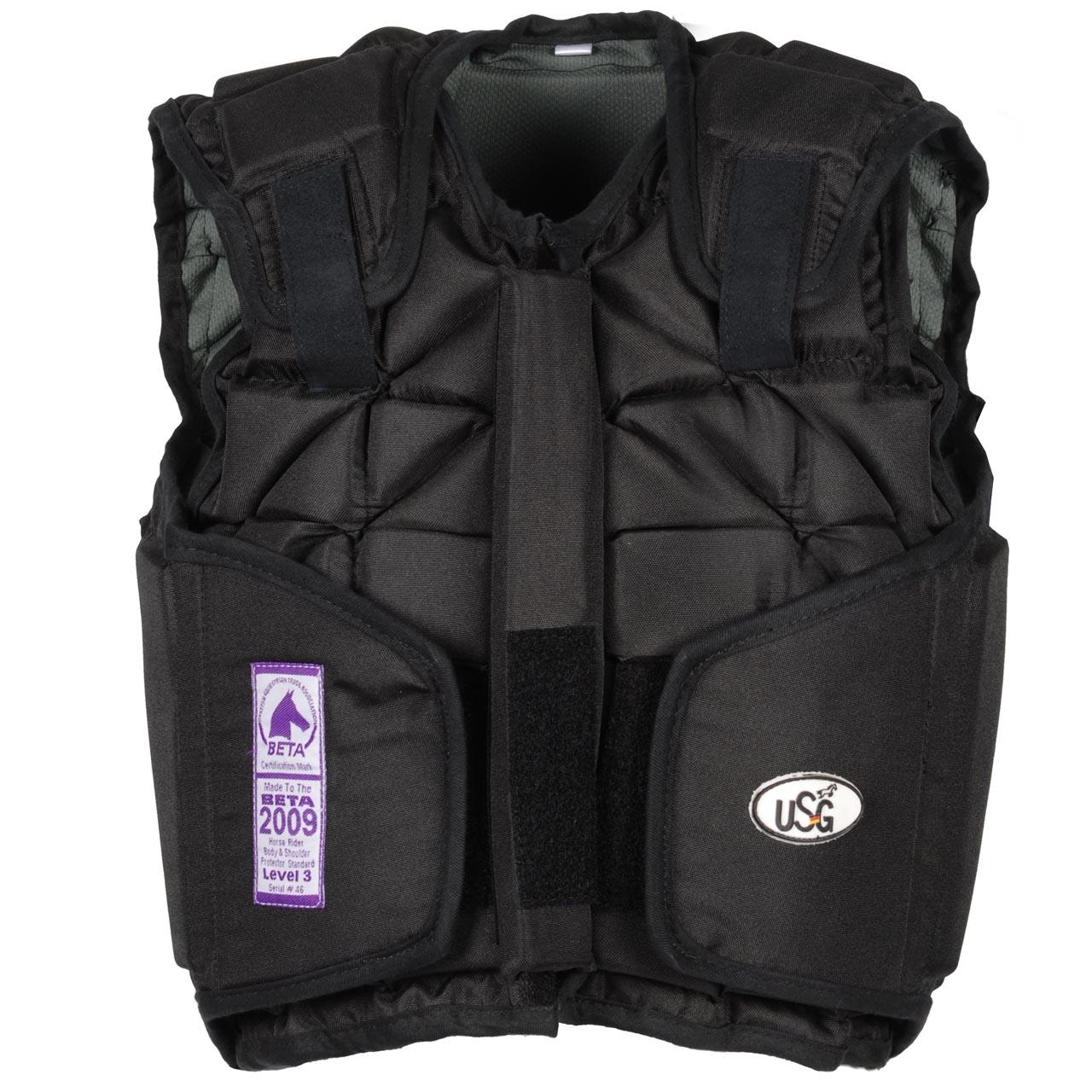 USG Flexi Motion bodyprotector jr zwart maat:s