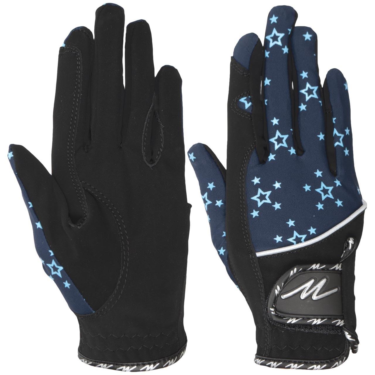 Mondoni Santos handschoen zwart/blauw maat:l