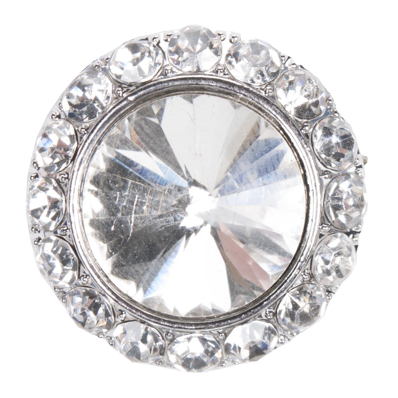 Harrys Horse Diamond plastronspeld zilver