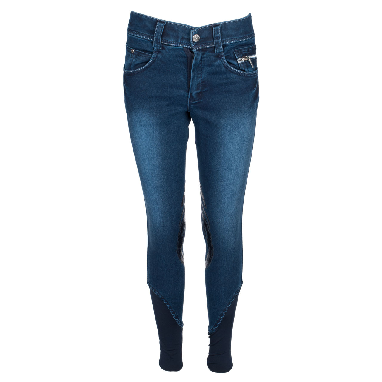 Harrys Horse Dirty Denim kinder paardrijbroek blauw maat:140