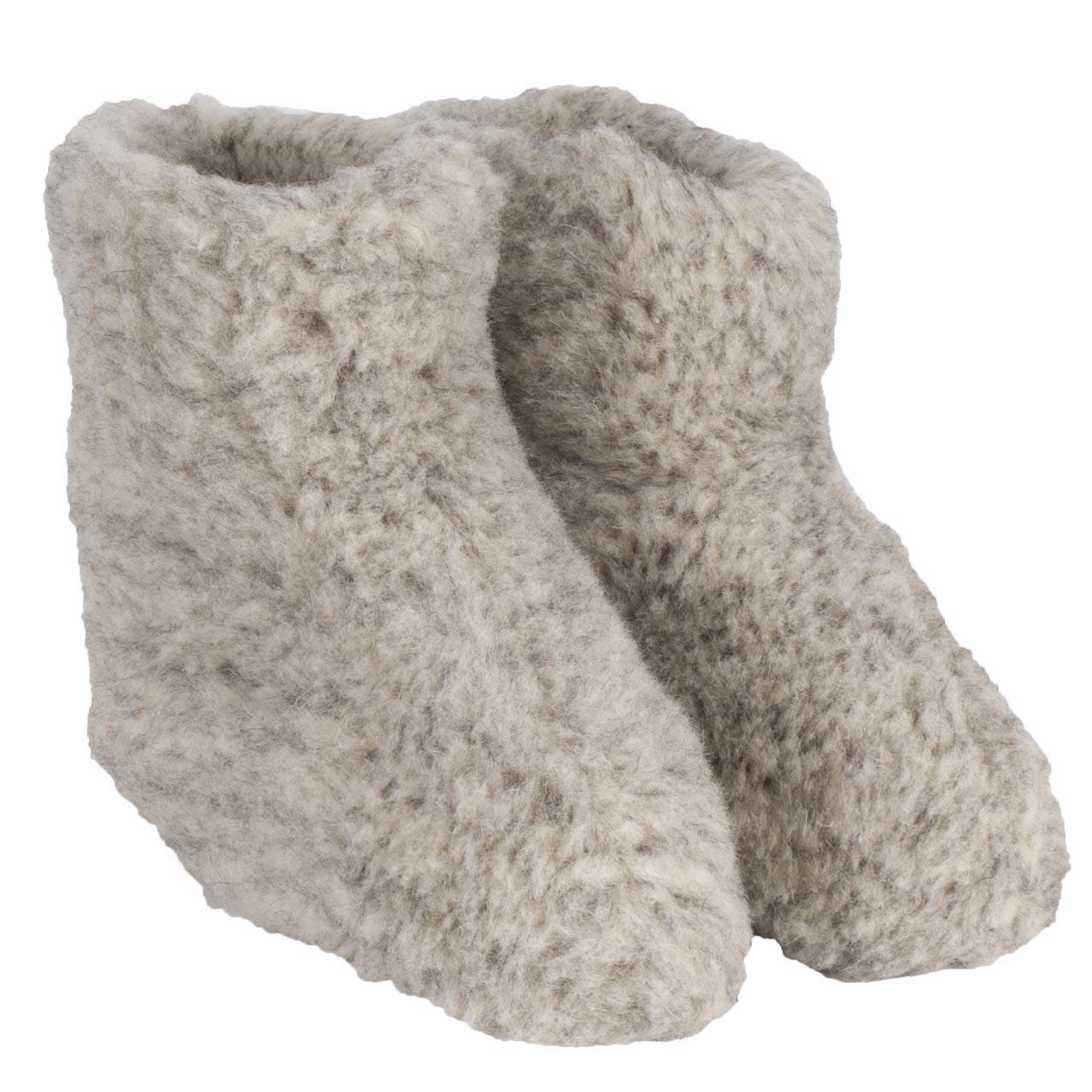 WoolWarmers sloffen grijs maat:40