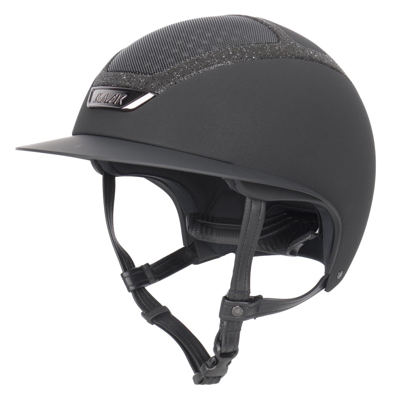 Kask Star Lady Swarovski cap zwart maat:57