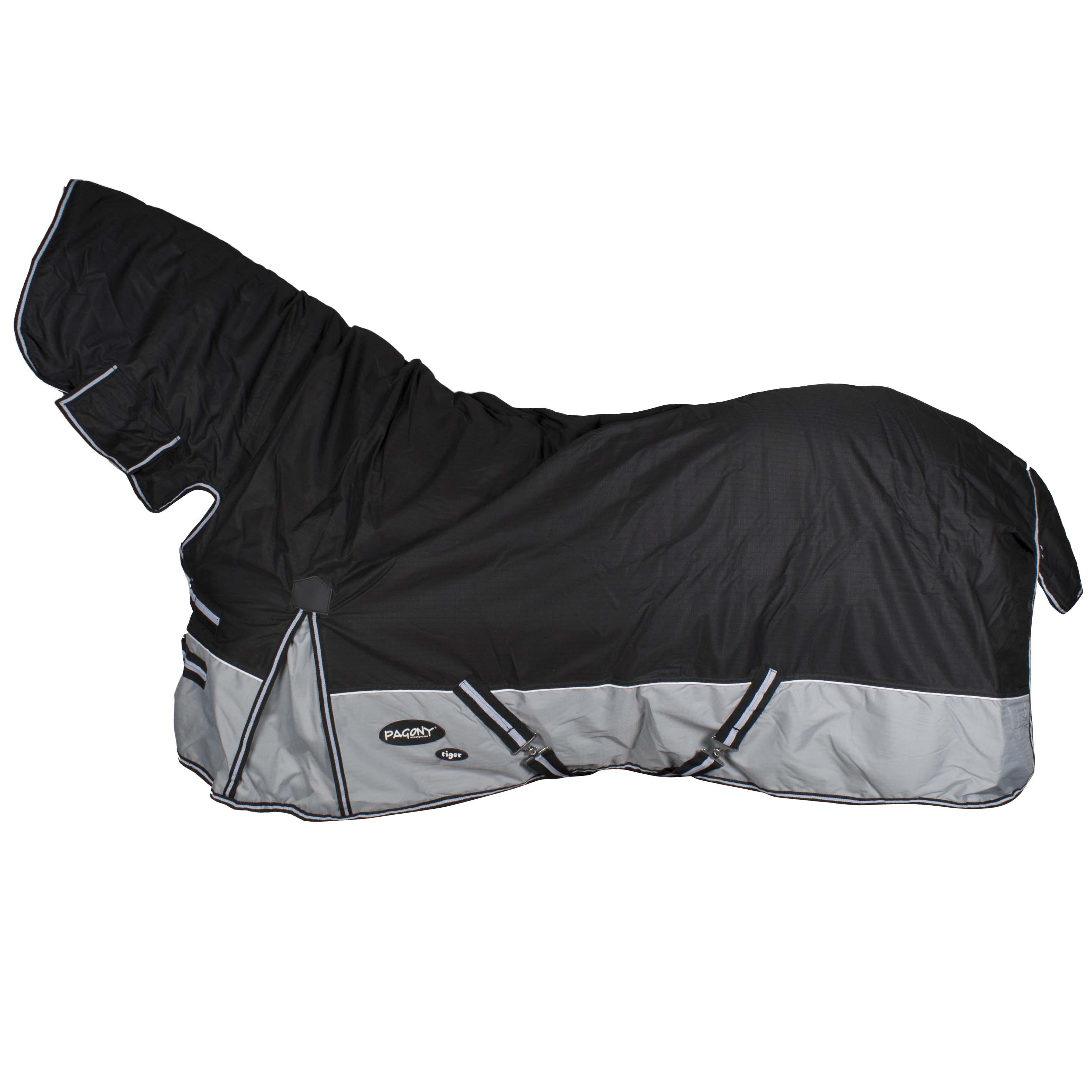 Pagony Tiger 0 Full Neck deken zwart maat:185