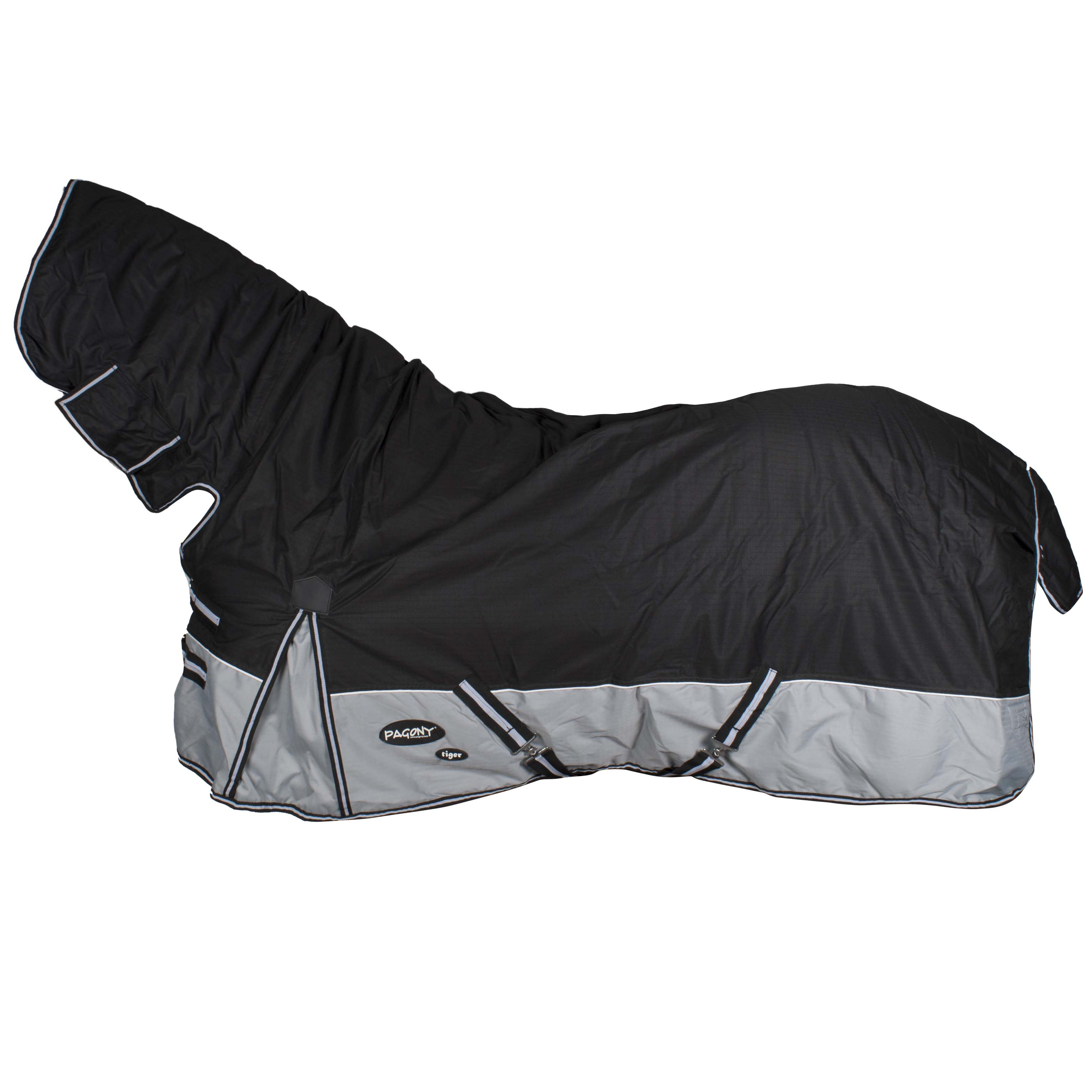 Pagony Tiger 0 Full Neck deken zwart maat:205