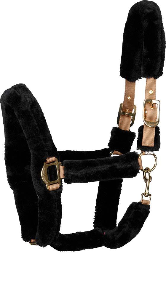 Harry's Horse Faux NJ21 Halsterset zwart maat:shetland