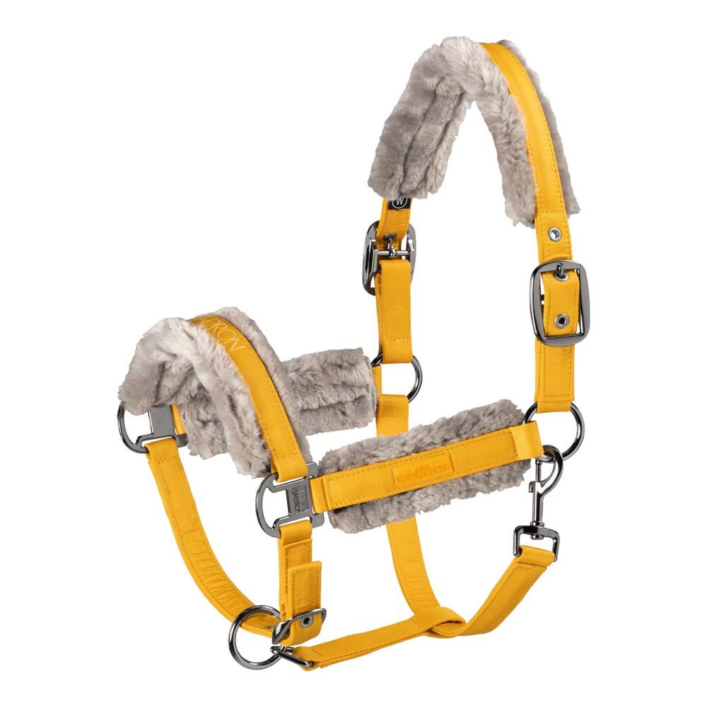 Eskadron Double Pin Fauxfur Glossy nj21 halster geel maat:full