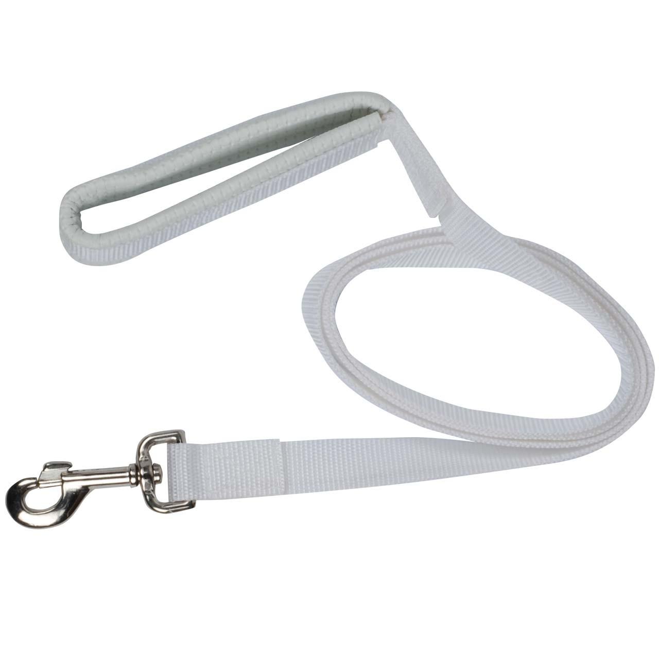 Nylon lijn met musketon wit