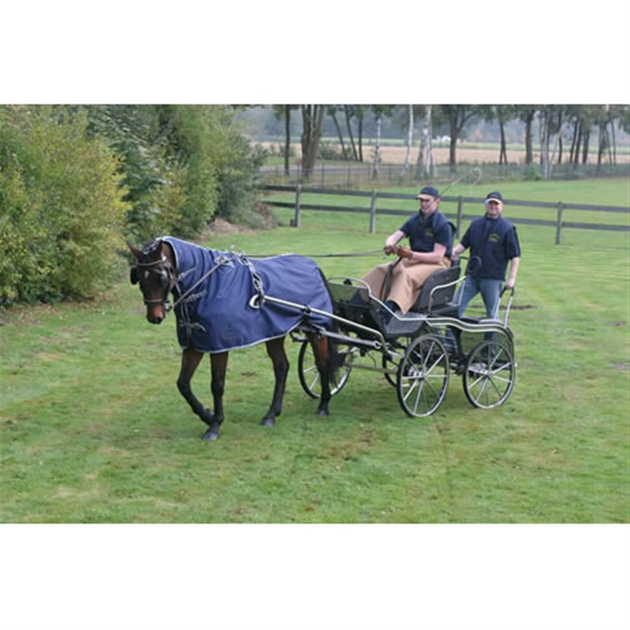 Ideal Equestrian waterafstotende mendeken blauw maat:205