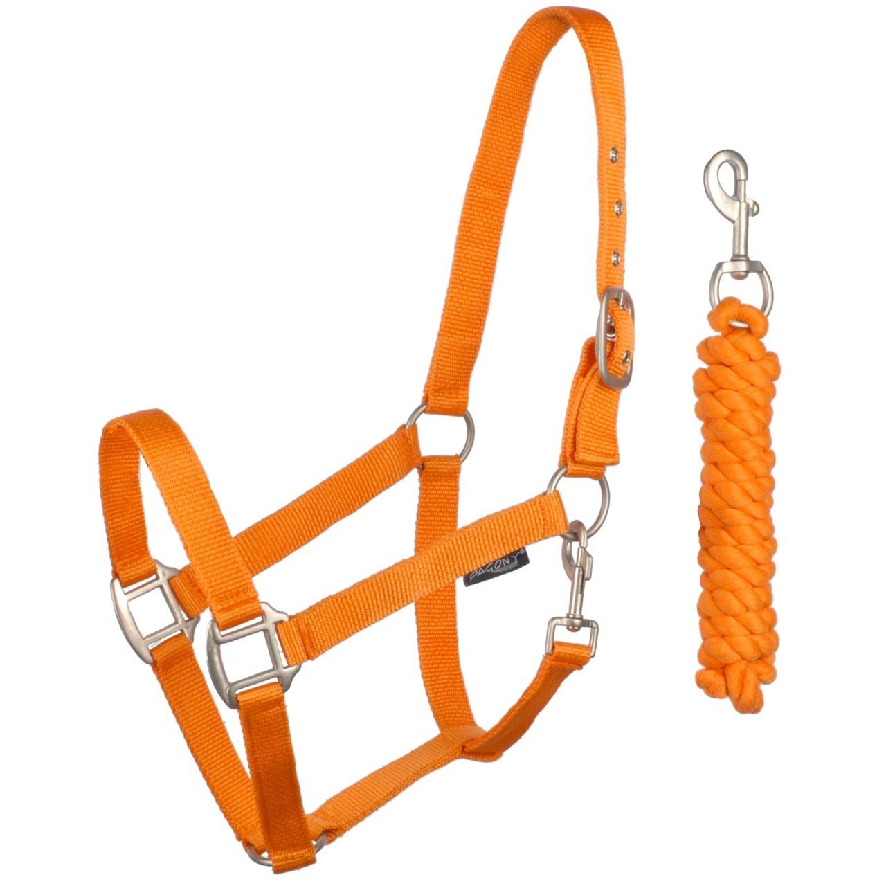 Pagony halsterset oranje oranje maat:pony