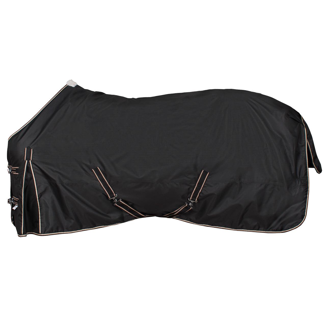 Pagony outdoordeken/fleece gevoerd zwart maat:215