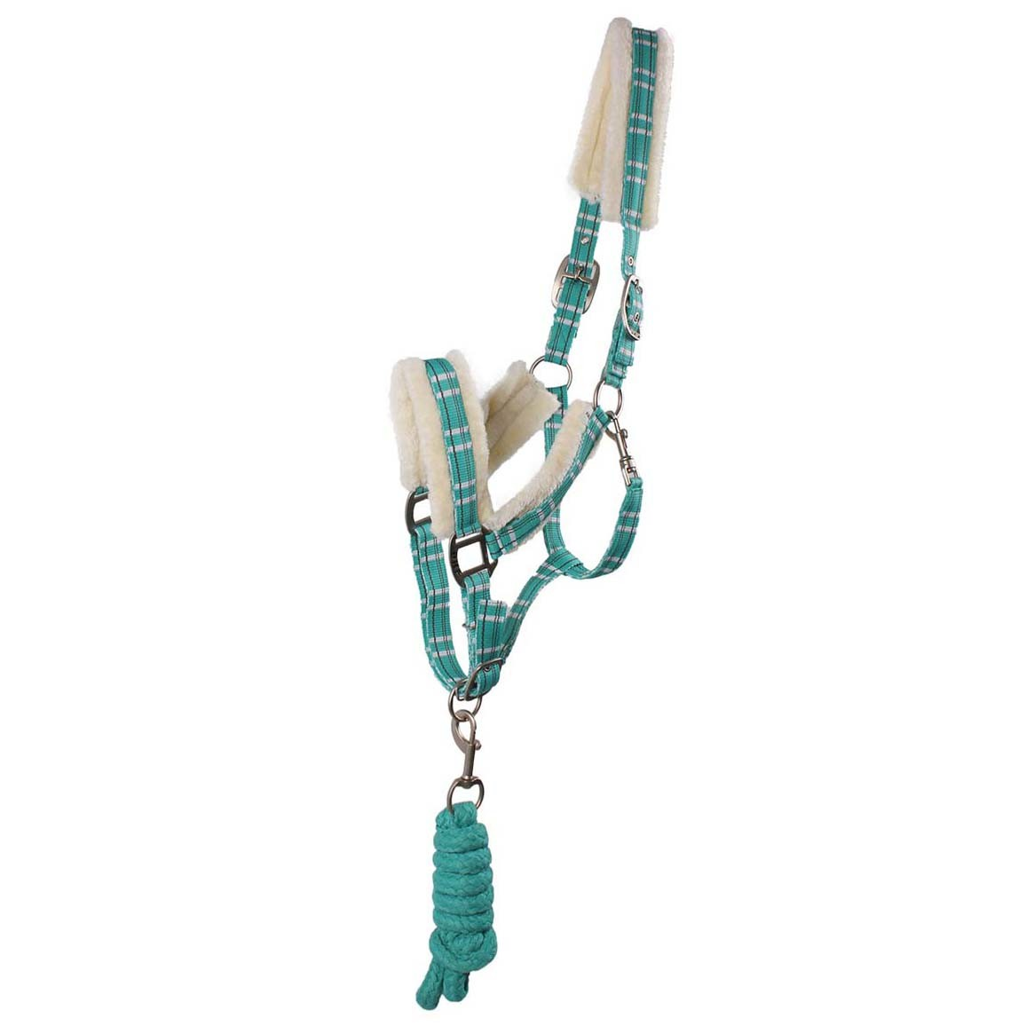 QHP halsterset bont turquoise maat:full