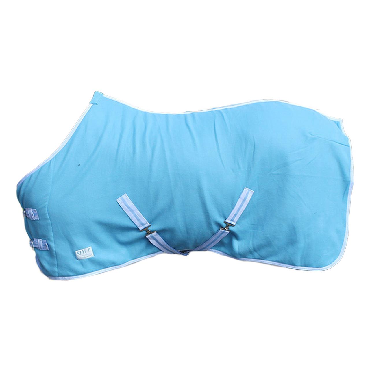 QHP Color fleecedeken blauw maat:165