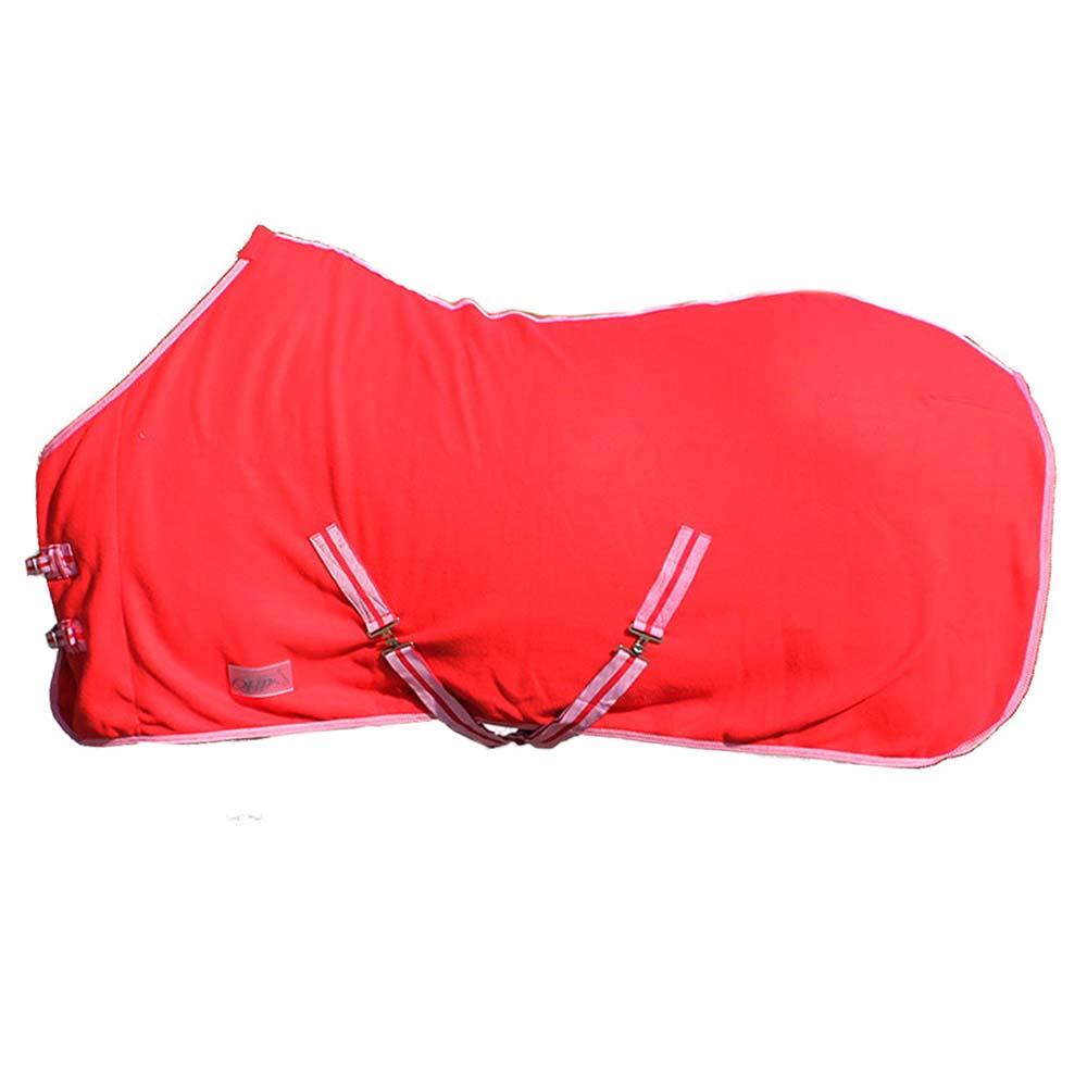 QHP Color fleecedeken rood maat:175