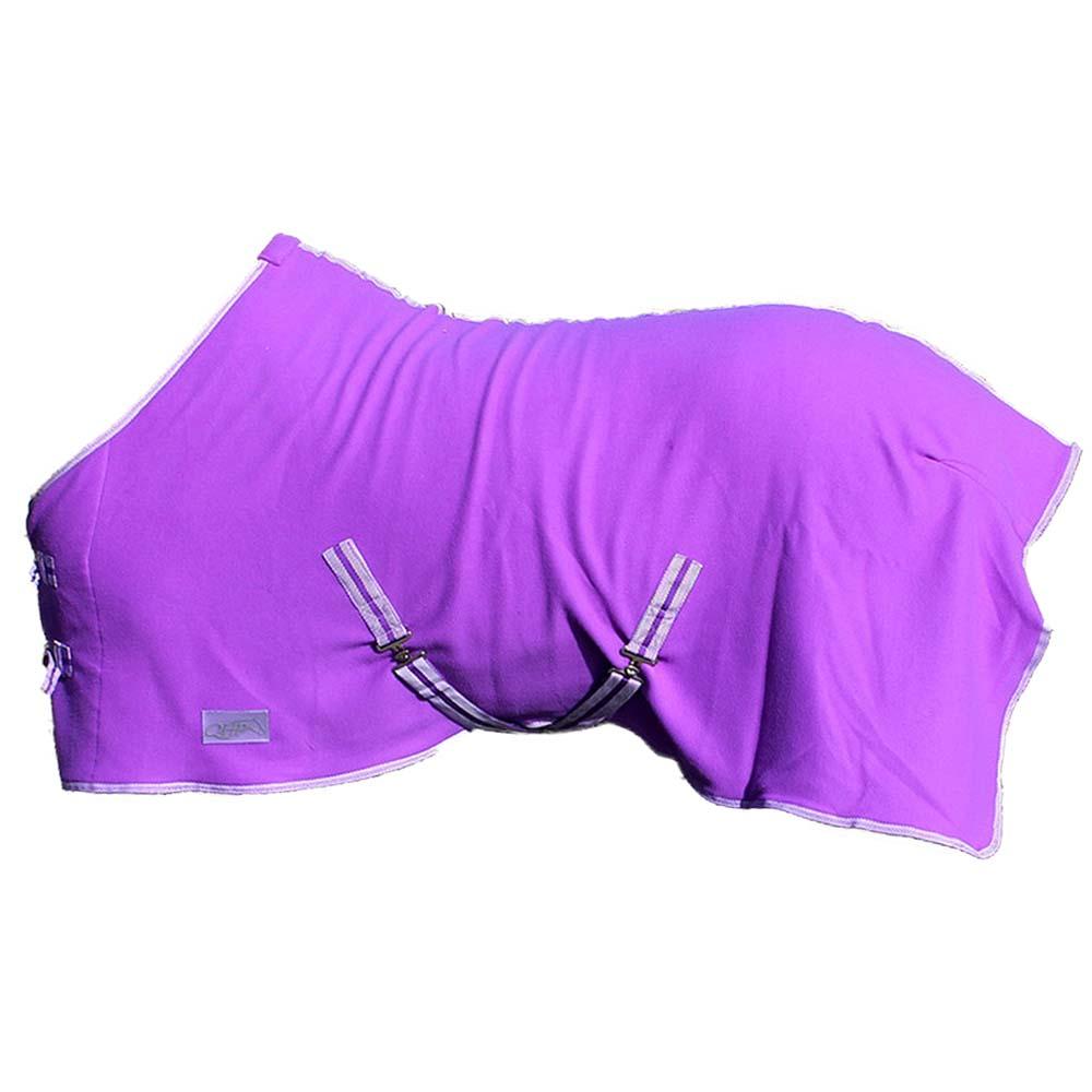 QHP Color fleecedeken paars maat:105