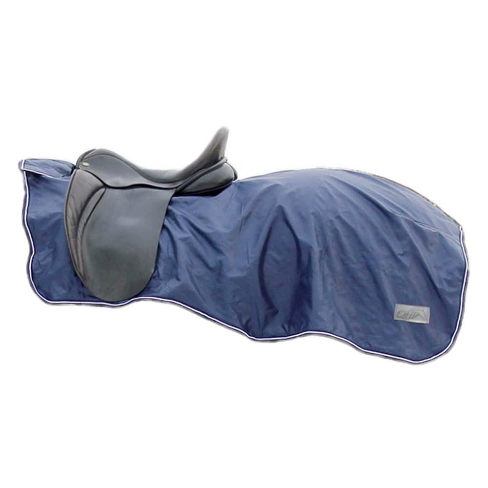 QHP Fleece 420D uitrijdeken blauw maat:l
