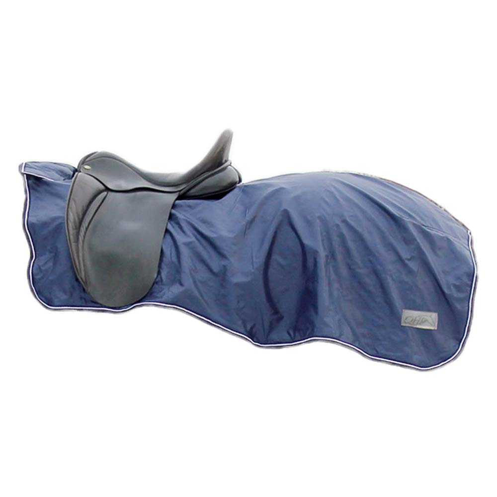 QHP Fleece 420D uitrijdeken blauw maat:s
