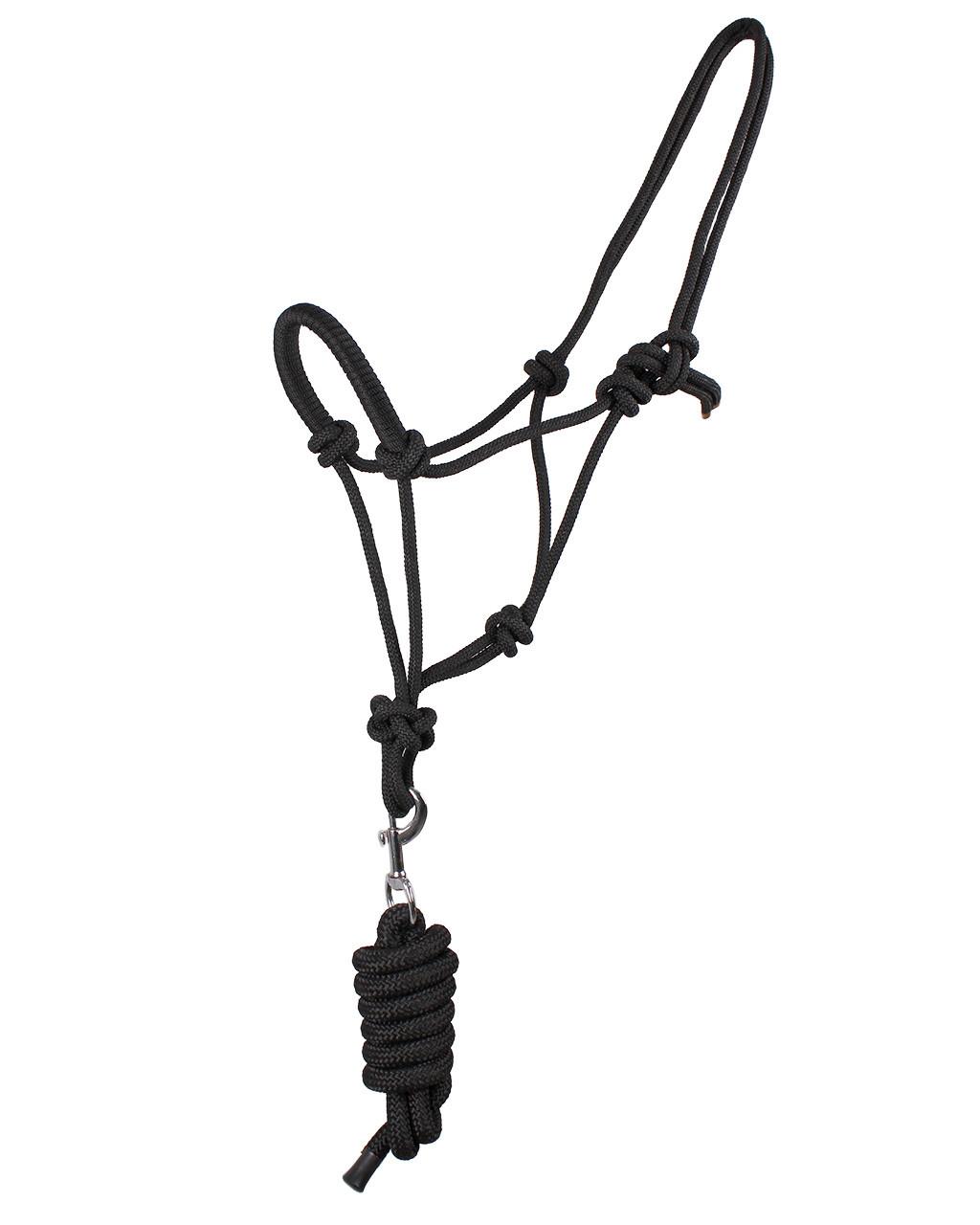 QHP Touwhalster zwart maat:full