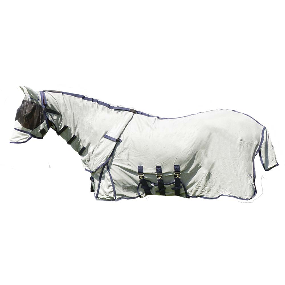 QHP nek+hoed vliegendeken grijs maat:155