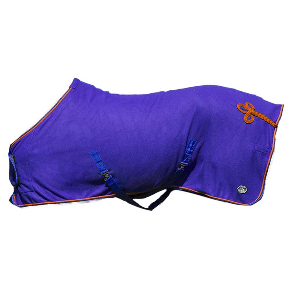 QHP Eldorado fleecdeken blauw maat:195