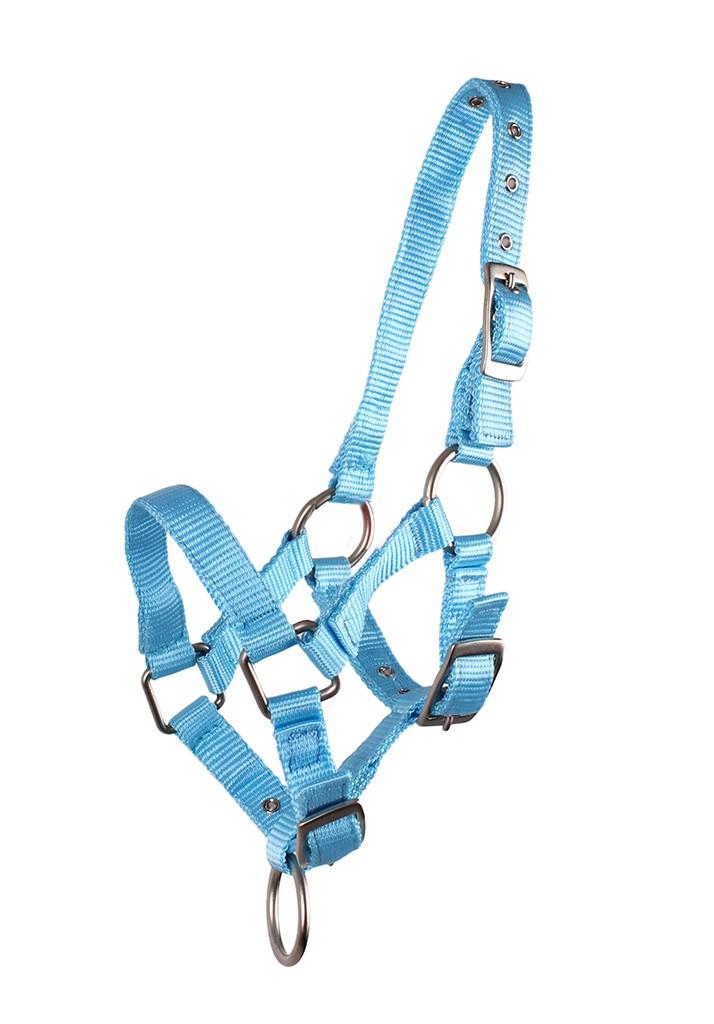 QHP veulen halster lichtblauw maat:3